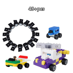 10-625PCS DIY Wheels Axle Car Accessories for Small Plastic Building Block Bricks Compatible with Brand Toy for children Gift