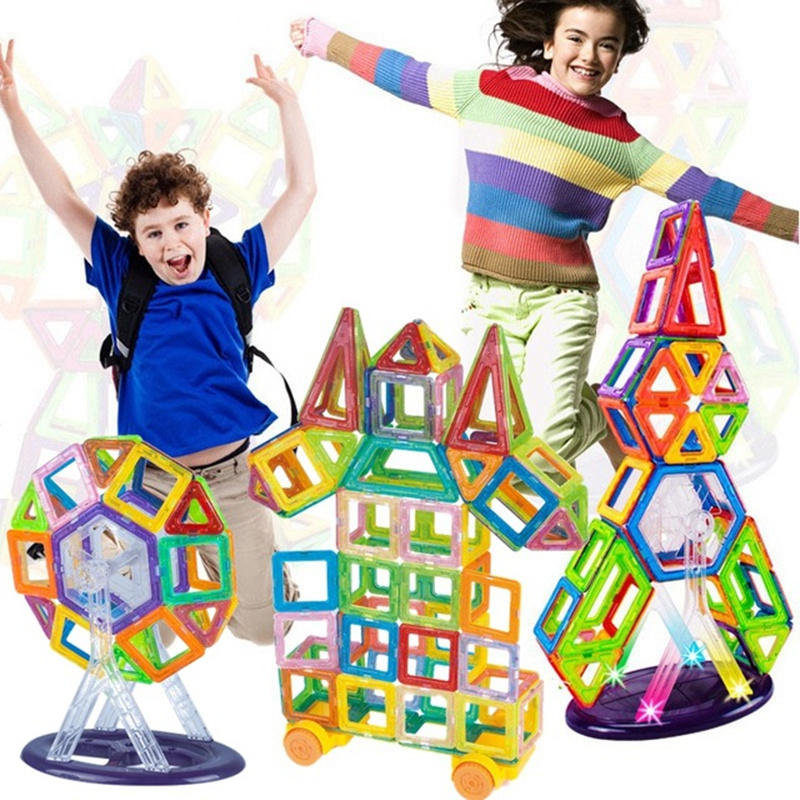 108PCS Mini Magnetic Designer Construction Toy Kids Educational Toys Plastic Creative Bricks Enlighten Magnetic Building Blocks 32pcs magnet toy 2016 new magnetic pipe building block children diy educational construction enlighten baby toys creative bricks