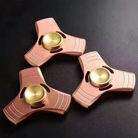 Hand spinner fidget spinner gyro decompression triangle copper finger gyro creative decompression vent toys