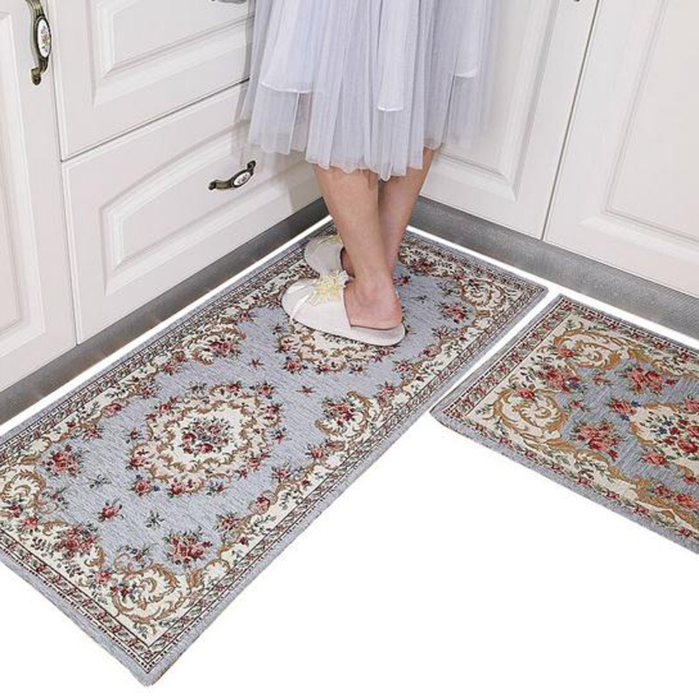 Europe Classical Jacquard Doormat Kitchen Area Rugs Living