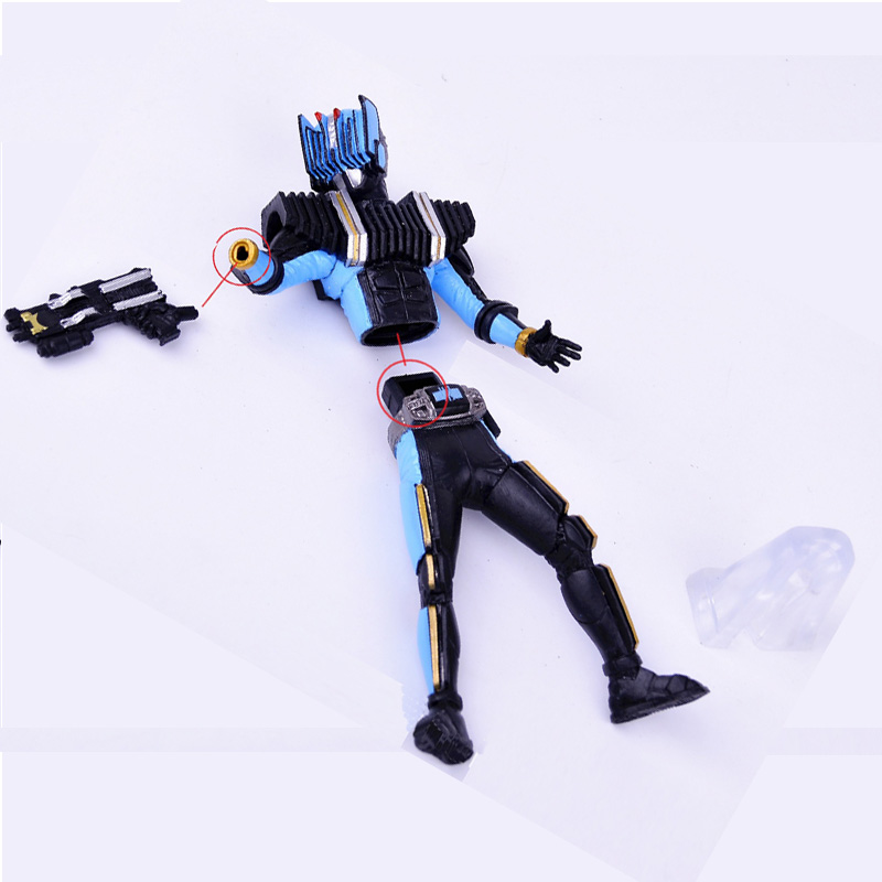 Image 2 - New Toy! 2pcs/lot Masked Rider action figure Kamen Rider model figures Assembly toys gifts for boysAction & Toy Figures   -