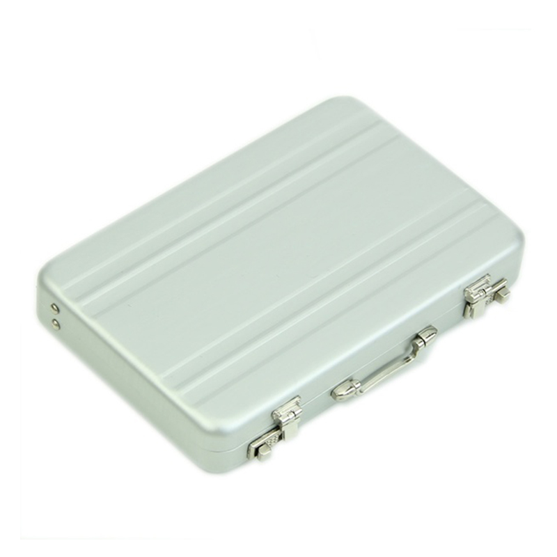 For Business Card Aluminum password box Card Case Mini suitcase Password briefcase