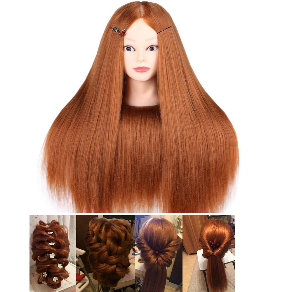 60CM High Temperature Fiber Hair Mannequin Head Dummy Mannequins Hairdresser Professional Styling Wig Hairdressing