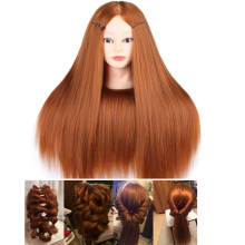 60CM High Temperature Fiber Hair Mannequin Head Dummy Mannequins Hairdresser Professional Hair Styling Wig Hairdressing Head purple professional styling head wig head stand women makeup hairdressing dummy doll training head hair mannequin head