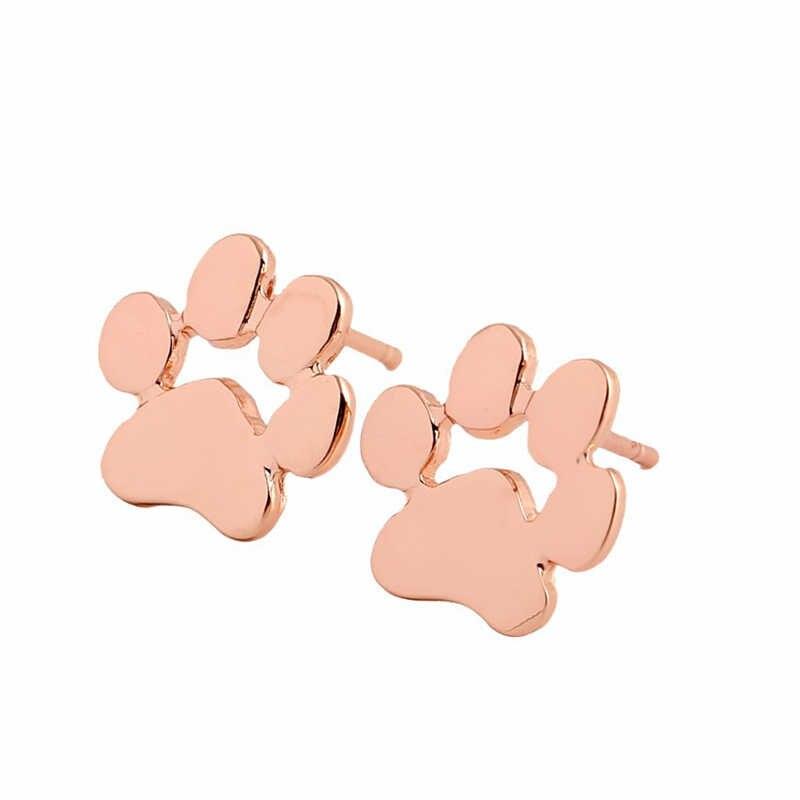LNRRABC クラシック人気女性のスタッドピアス犬足跡 Aolly メッキファッションジュエリー女性誕生日ギフト宝石類