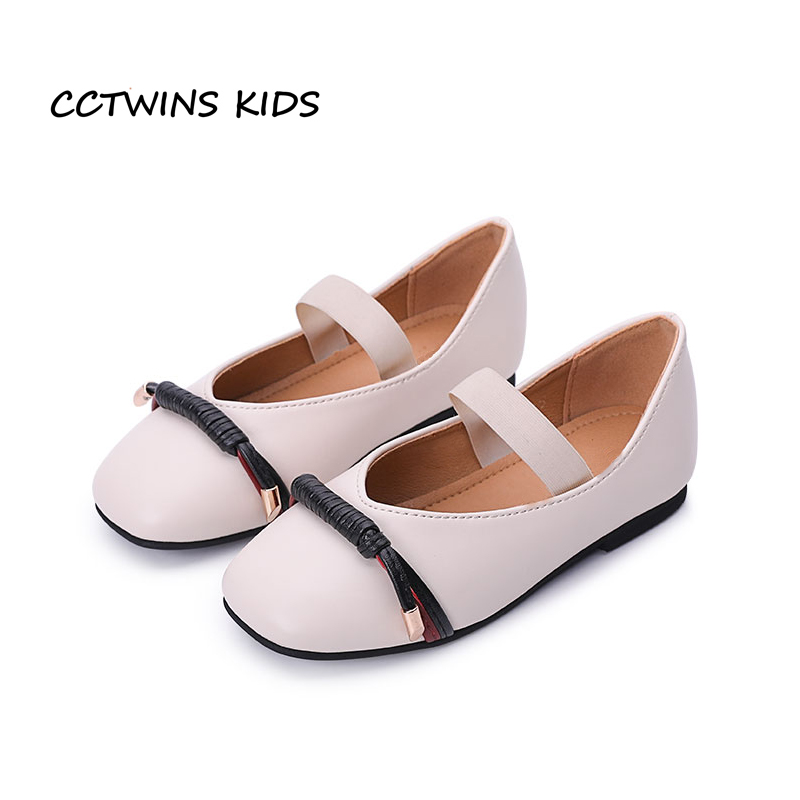 CCTWINS KIDS 2018 Spring Children Pu Leather Flat Toddler Fashion Party Princess Shoe Baby Girl Dance Ballet Black G1729