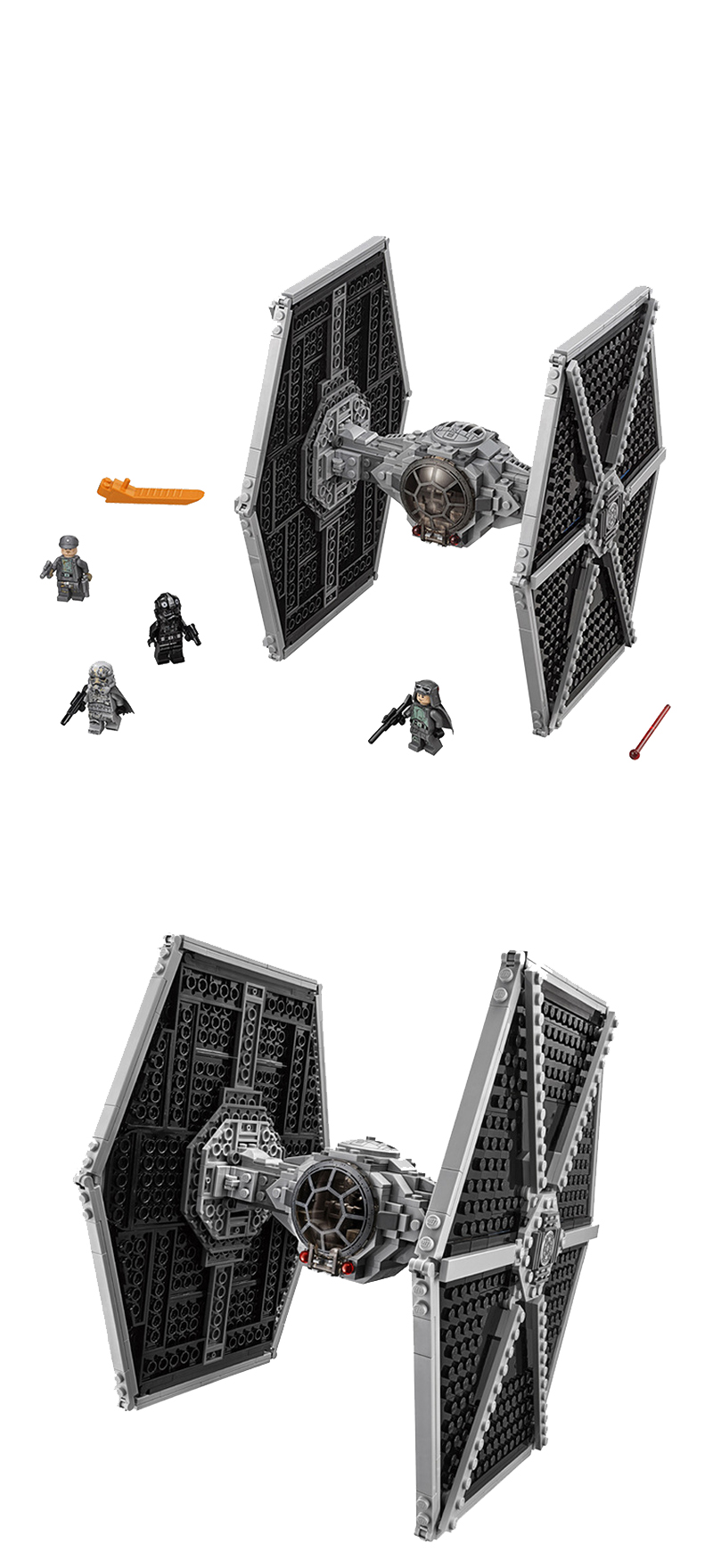 550pcs Star Series Wars Imperial TIE Fighter Building Blocks Iconic Attack Craft