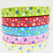 suoja  1'' 25mm 5yards/pack Cartoon butterfly Ribbons Thermal transfer Printed grosgrain Wedding Accessories DIY material suoja