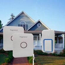 Водонепроницаемый пульт дистанционного управления дверной звонок, 1 кнопки 2 перезвон, ЕС plug, США plug, беспроводной дверной звонок