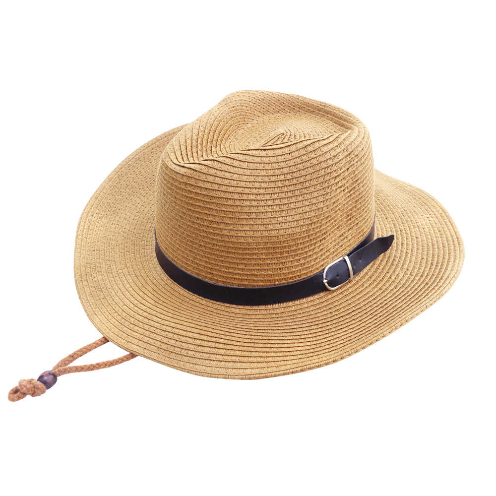 51461dcdad7 Sunshade Hat For Male SummerFolding Western Cowboy Protection Sun Hat  Breathable Outdoor Grass Hat