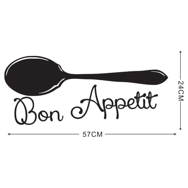 Bon Appetit Französisch Spanisch Zitate Lebensmittel Wandaufkleber Mit  Suppe Löffel Kochwerkzeug Wohnzimmer Esszimmer Restaurants Küche In Bon  Appetit ...
