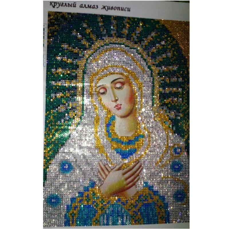 Needle Arts & Crafts 2017 Crystal Diy Diamond Painting Cross Stitch Mary And Baby Picture Pasted Diamond Mosaic Kit Needlework Diamond Embroidery