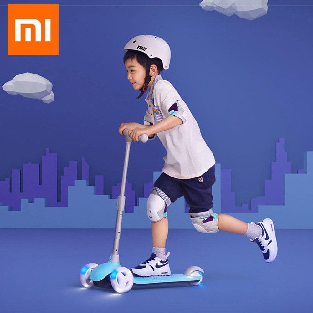 Xiaomi Миту самокат детский 3 колеса несколько двойной весна тяжести рулевого управления Системы для детей светодио дный 3 6 лет отдых на открыт