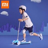 Xiaomi Миту самокат детский 3 колеса несколько двойной весна тяжести рулевого управления Системы для детей Led 3 6 лет отдых на открытом воздухе С