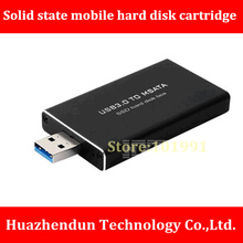 New Product mSATA to USB3.0 All Aluminum SATA III Solid state mobile hard disk cartridge ASM1153E Support TRIM