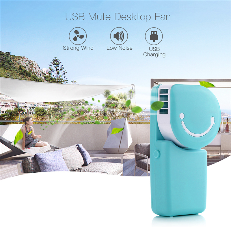 Mini Portable Hand Held Desk Air Conditioner Humidification Cooler Cooling Fan Smile Face USB Rechargeable Hand Fans For Outdoor 3 files mini usb hand fan cooling for home outdoor portable fan air conditioner cooler fans with 1200ma rechargeable battery