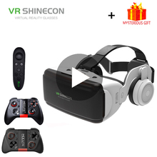 VR Shinecon G06E Casque 3D Glasses Headset Virtual Reality Glasses For iPhone Android Smart Phones Smartphone Lens Remote Game new baofeng mojing s1 3d glasses virtual reality glasses vr headset 110 fresnel lens bluetooth remote controls for smartphone