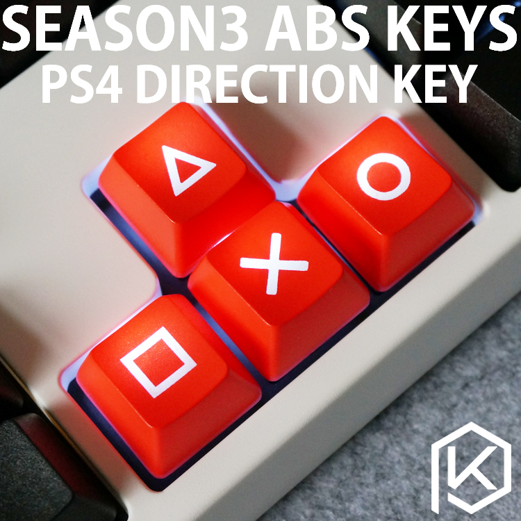 Novelty Shine Through Keycaps ABS Etched, Shine-Through Light Keycaps Ps4 Psp Arrowkey Functions Oem Profile