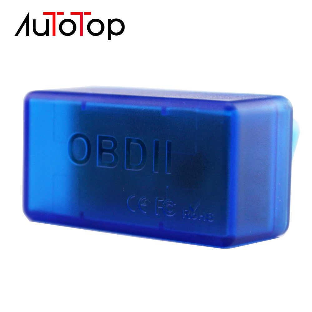 AUTOTOP OBD2 Bluetooth アダプタ elm 327 V2.1 Android トルク OBDII Bluetooth カー診断ツールのための車のマルチメディアプレーヤー