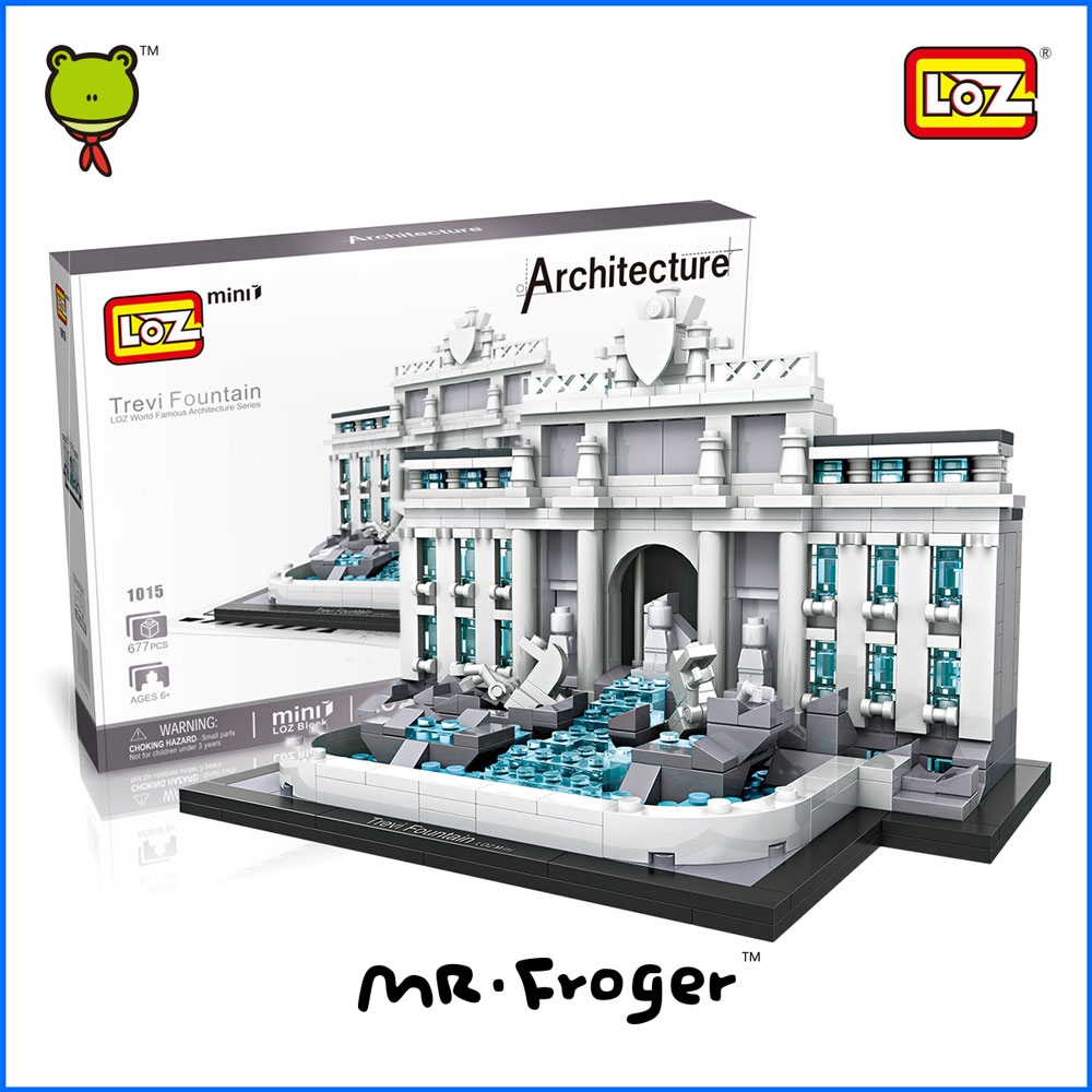Mr.Froger LOZ Mini Blocks Trevi Fountain World Famous s