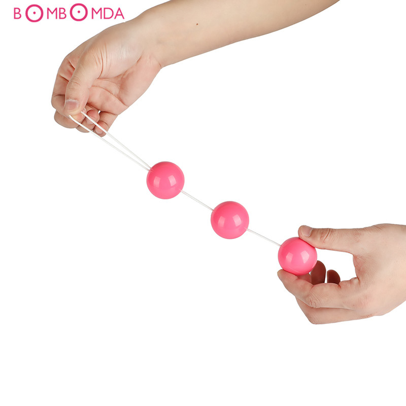 Three Balls Anal Beads Vaginal Balls Trainer Sex Toys Silicone Ben Wa Balls Vagina Tightening Kegel Exerciser Vibrator For Women