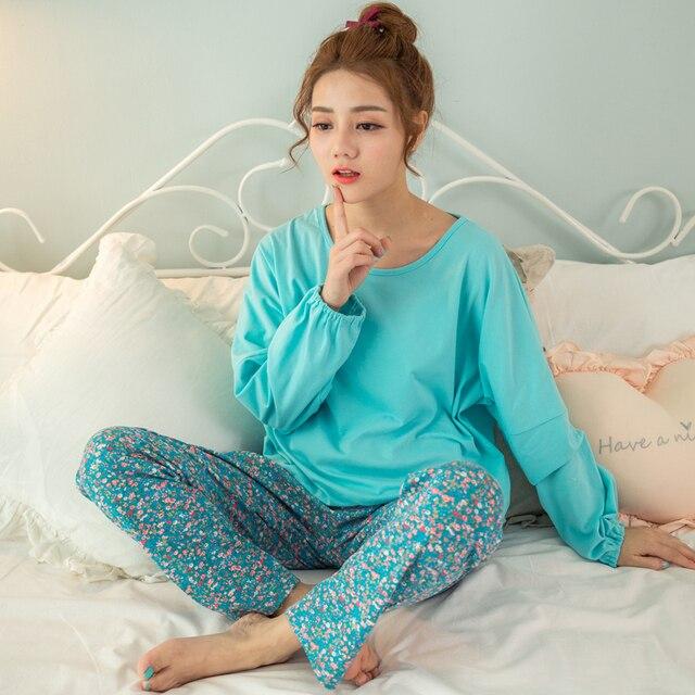 Горячая Прекрасный пижамы, Мода, Новые Девушки Пижамы причинно Хлопок женщины пижамы наборы Пижамы Для женщин Домашней одежды Ночной Рубашке Наборы