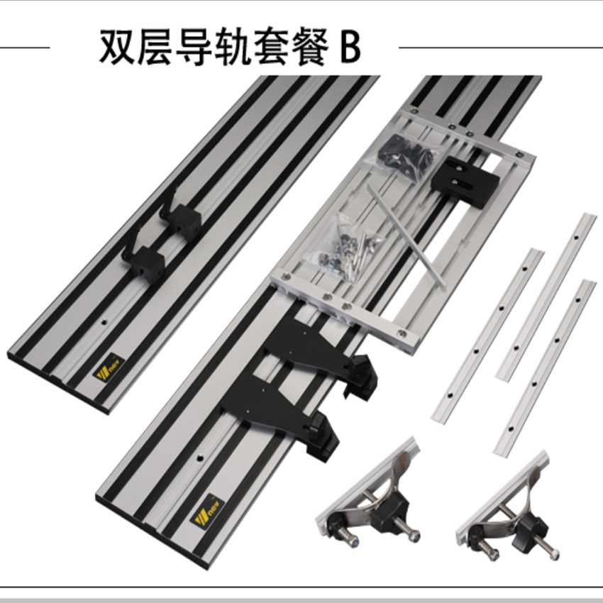 Universal Electric Circular Saw Guide Rail with Adjustable Saw Base for Circular Saw Woodworking DIY Straight