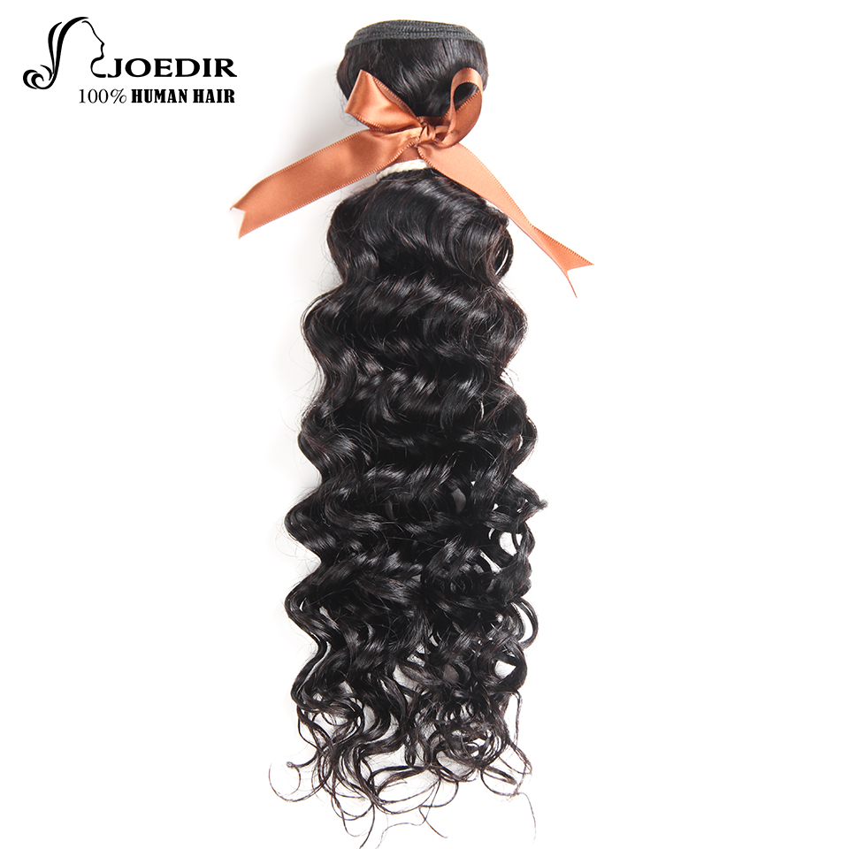 Joedir Hair Indian 100% Human Hair Bundles Water Wave 1 Piece Only Natural Black Color Weft Bundle None Remy Hair Can Buy 3 or 4