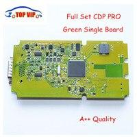 10pcs Lot DHL Free High Quality TCS Cdp PRO NEW VCI Bluetooth Single Board Green Software