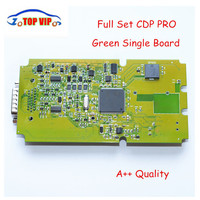 10pcs Lot DHL Free High Quality TCS Cdp PRO NEW VCI Bluetooth Single Board Green Software