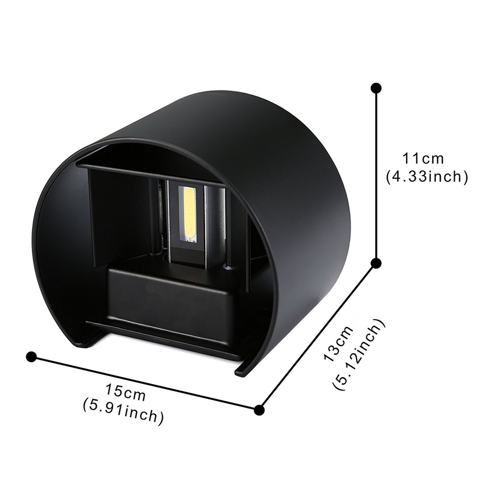 Feimefeiyou circular luminaria lampada led IP67 indoor outdoor led wall lamp adjustable surface mounted cube garden porch light in LED Indoor Wall Lamps from Lights Lighting