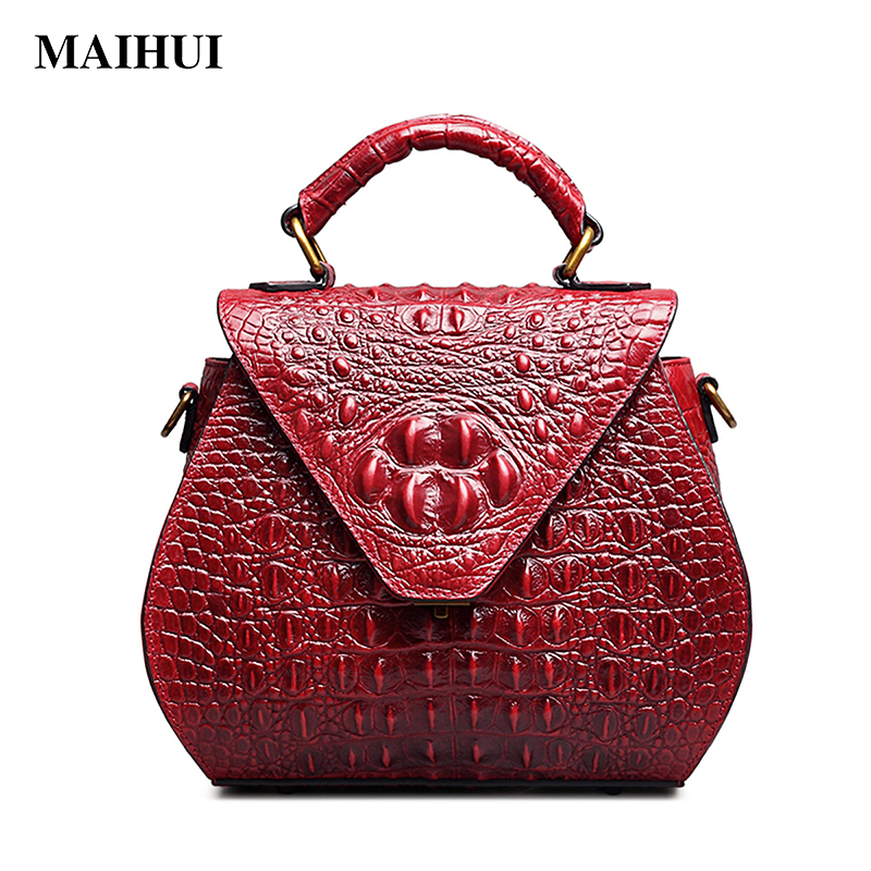 MAIHUI women leather handbags high quality designer real cow genuine leather shoulder bags 2017 new fashion ladies saddle bag