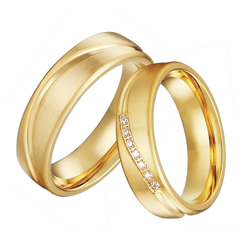 Marriage Gold Wedding Ring Designs For Couple