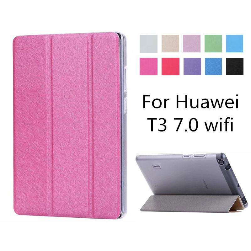 Slim Folding Case cover For Huawei MediaPad T3 7 WIFI BG2 W09 Flip Cover For Huawei
