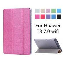 Тонкий складной чехол для huawei MediaPad T3 7 WI-FI BG2-W09 флип-чехол для huawei MediaPad T3 7,0 WI-FI случае
