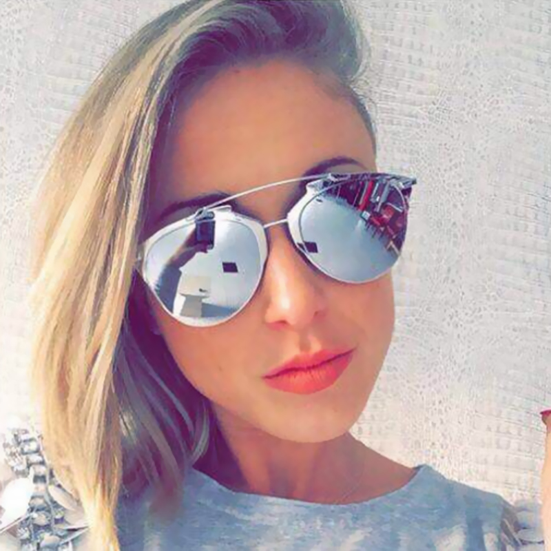9b53f7f247f Fashion Sunglasses Cat Eye Women Or Men Superstar Vintage Brand Designer  Metal Frame Celebrity Sun Glasses Male Female-in Sunglasses from Apparel ...