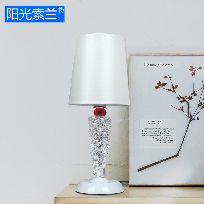 Ice Crystal Glass Table Light E14 AC90-260V Desk Lamp for Living reading room bedroom hotel bedside lamp innovation and unique ice block desk table lamp creative small ice lamp g9 220v free shipping
