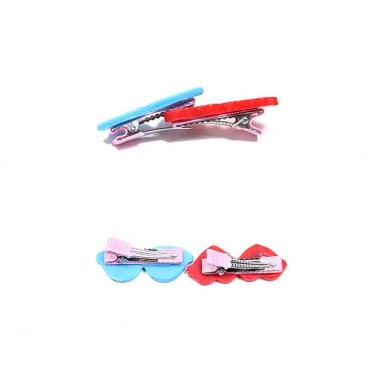 Аксессуары для домашних животных 10 шт. Разноцветные Милые сердечки солнцезащитные очки форма Кошка Собака заколки для волос Щенок Чихуахуа бантики для ухода за шерстью аксессуары