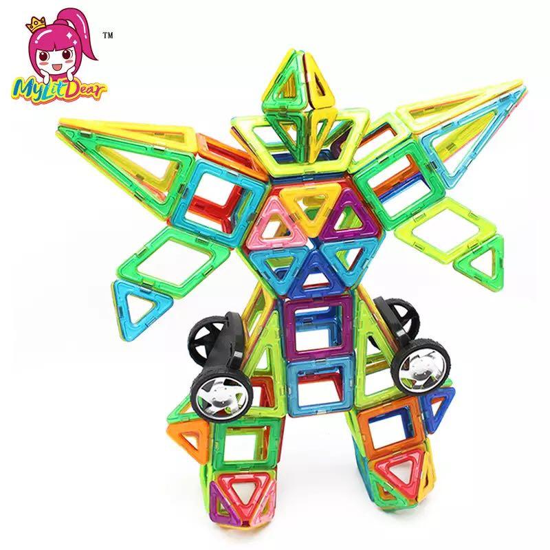115pcs Big Magnetic DIY building blocks parts construction toys for toddlers Designer magnetic toys Magnet model