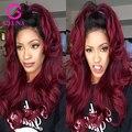 10-30 8А Девственные Волосы Бордовый Ombre Бразильские Волосы Объемной Волны Человеческих Волос Weave 4 связки 100 Ombre Человека Наращивание волос