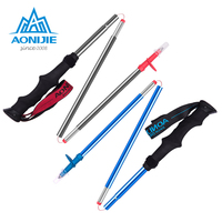 AONIJIE Ultra Light EVA Handle 3 Sections Foldable Canes Aluminum Alloy Walking Sticks Trekking Pole Alpenstock