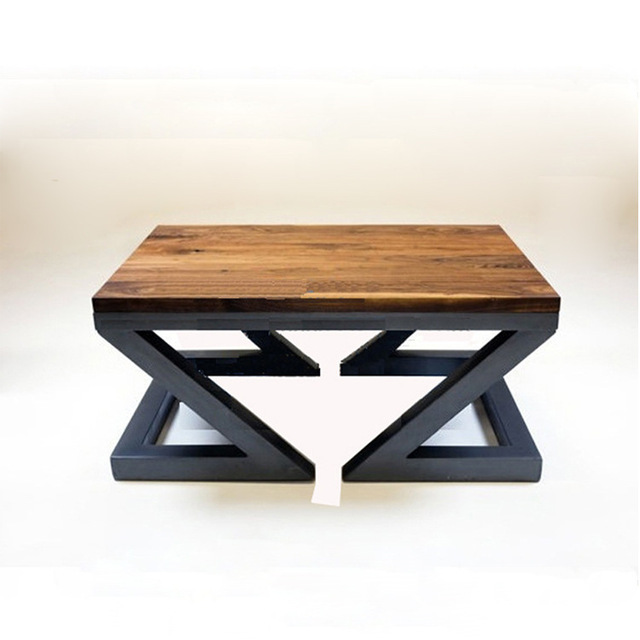 wrought iron and wood furniture. American Country To Do The Old Wrought Iron Wood Coffee Table Living Room Furniture Personalized And U