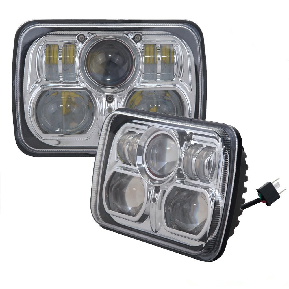 Универсальный 7 х 6 54ВТ Сид управляя свет прямоугольник 7.9-дюймовый LED фара фара для Jeep Вранглер JK, Грузовики Серебряный Цвет