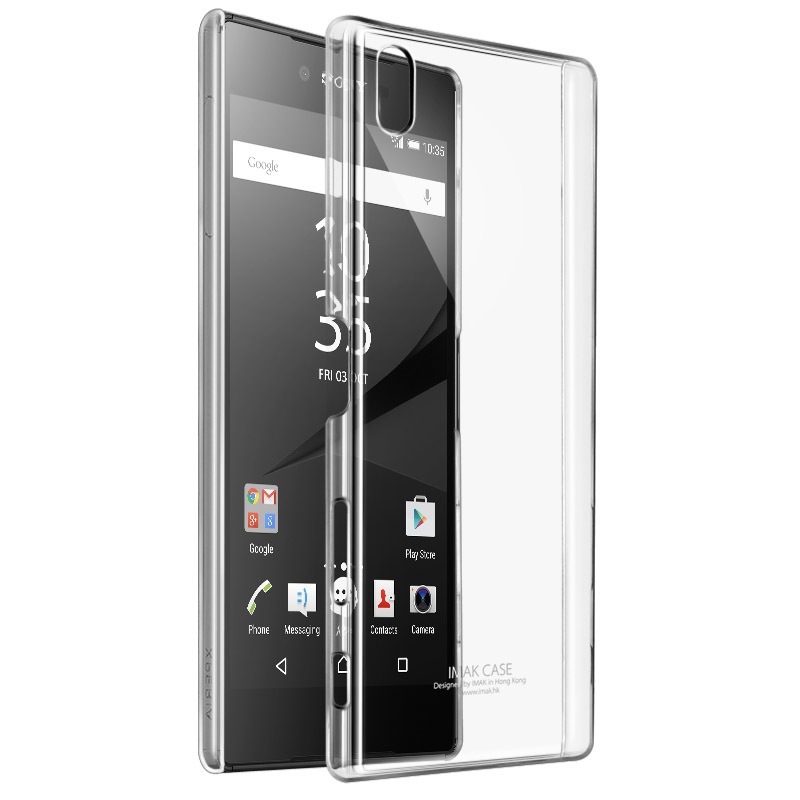IMAK Brand sFor Sony Xperia Z5 Premium Case Clear Crystal PC Hard Back Cover Case for So ...