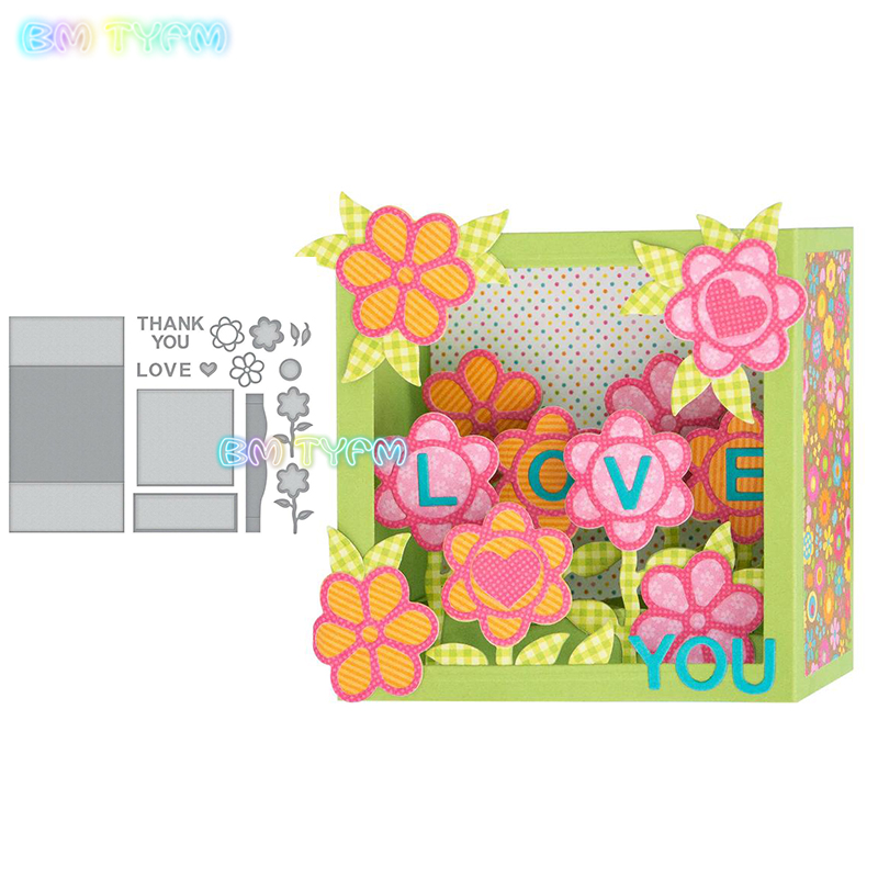 5 kinds of flowers box Metal cutting dies new 2018 DIY Scrapbooking album Decorative Embossing Hand-on Paper Cards