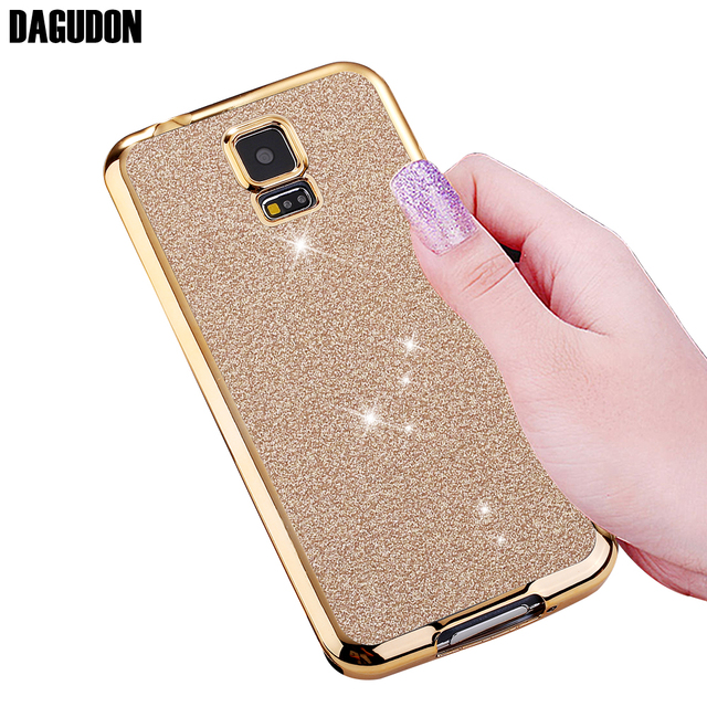 best sneakers 64680 16e74 US $1.95 45% OFF|DAGUDON Phone Case For Samsung Galaxy S5 Luxury Silicone  Soft TPU Glitter Rose Gold Cover For Samsung S5 Skin Bag i9600-in Fitted ...