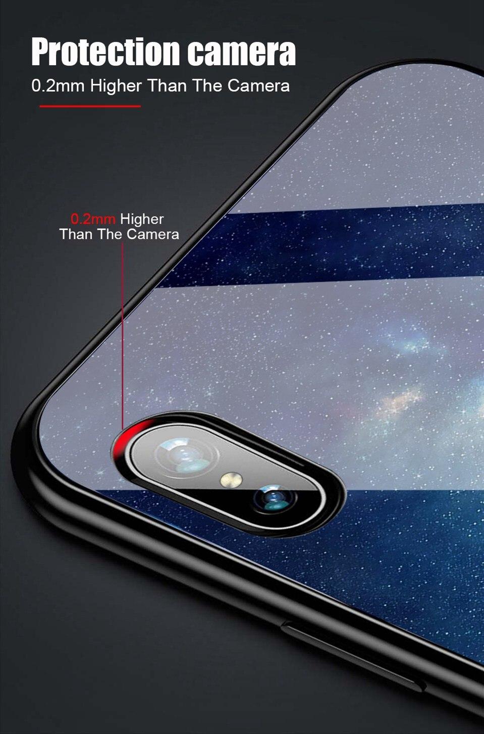 Tempered Glass Case For Xiaomi Redmi 6A Note 5 6 Pro Global 5 Plus 4X Cover Pattern Xiomi Phone Case for Xiaomi Mi A2 Lite A1 5X (7)