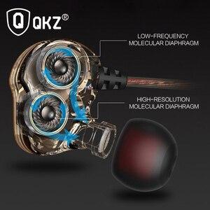 Image 2 - Słuchawki oryginalne słuchawki QKZ KD4 podwójny sterownik z mikrofonem gamingowy zestaw słuchawkowy mp3 zestaw słuchawkowy DJ audifonos fone de ouvido auriculares