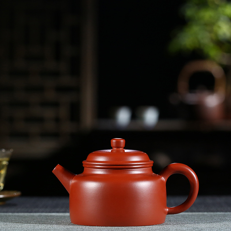 200ml Genuine Yixing Zisha pot Famous hand-made Purple Clay Pot Name 'Dahongpao De bell' pot Chinese kungfu teapot tea set