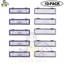 10 PACK PULITO BAMBOLA filtro HEPA per Neato Botvac Filtro D Collegato D7 D80 D85 D3 D75 D5 70e 75 80 85 Aspirapolvere filtri